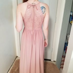 Long Pink Evening Gown